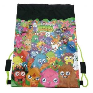 Moshi Monsters Black/Green Trainer Gym Bag